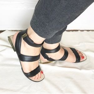 Calvin Klein Exclusive Aimee Nappa Strappy Sandals